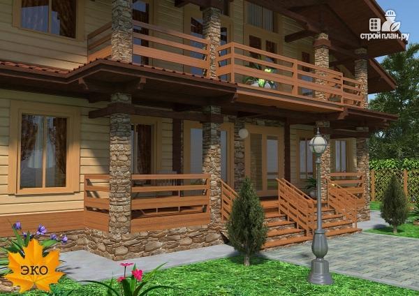 Фото 6: проект каркасный дом с сауной и вторым светом в гостиной