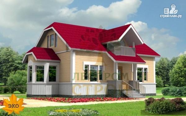 Фото: проект каркасный дом с эркером