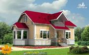 Проект каркасный дом с эркером
