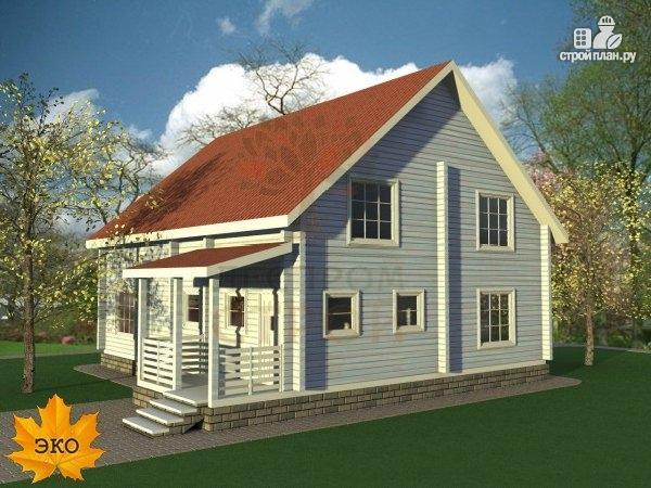 Фото 3: проект каркасный дом с террасой