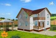 Фото: каркасный дом с балконом