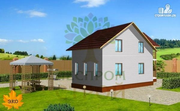 Фото 3: проект каркасный дом с балконом