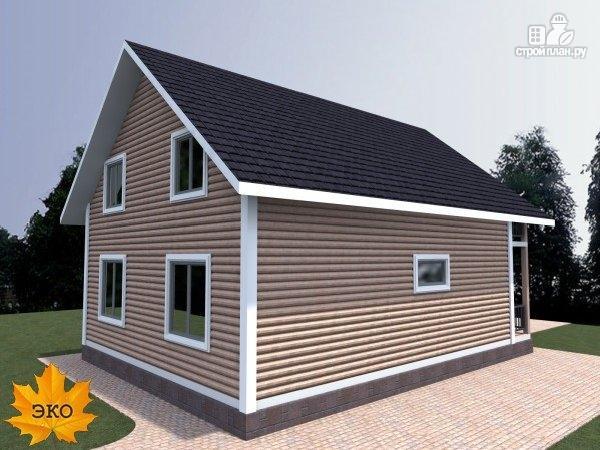 Фото 4: проект каркасный дом с балконом и террасой