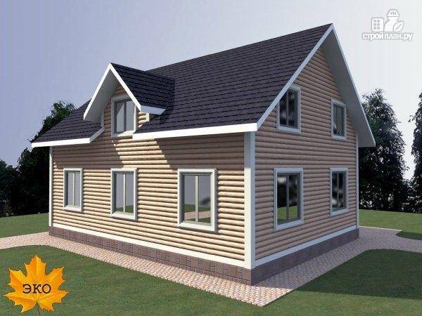 Фото 2: проект каркасный дом с балконом и террасой