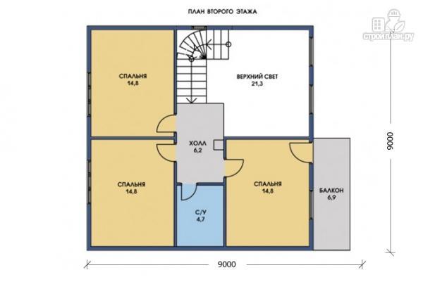Фото 6: проект каркасный дом с широкой террасой и вторым светом в гостиной