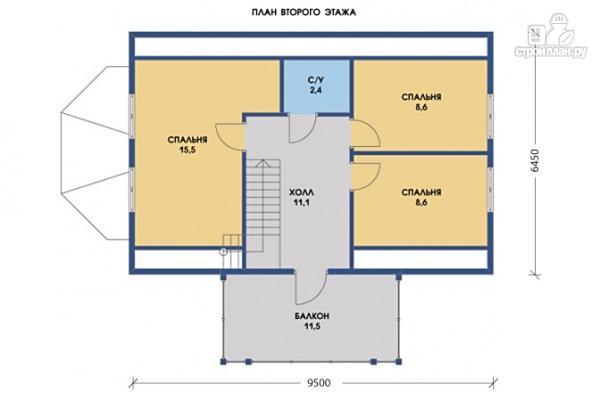 Фото 5: проект дом с эркером, балконом и террасой