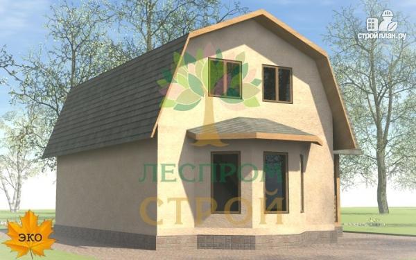 Фото 4: проект дом с эркером, балконом и террасой