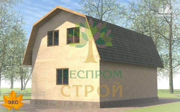 Фото 3: проект дом с эркером, балконом и террасой