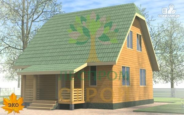 Фото: проект каркасный дом 8х8 с крыльцом