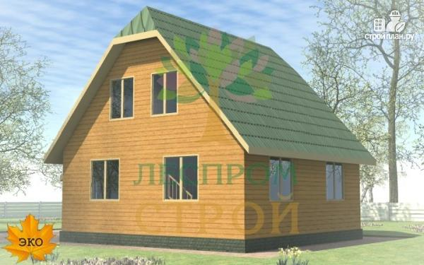 Фото 4: проект каркасный дом 8х8 с крыльцом