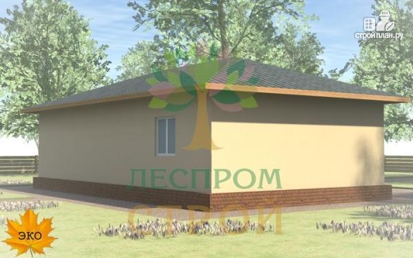 Фото 3: проект одноэтажный каркасный дом с террасой