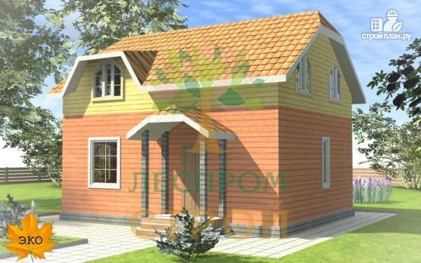 Фото: проект каркасный дом с просторными комнатами