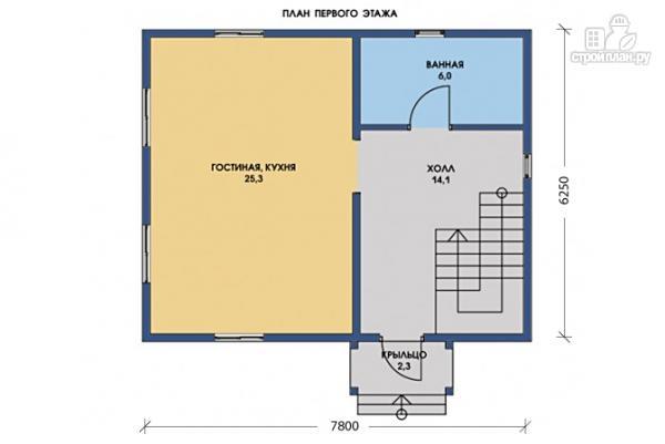 Фото 5: проект каркасный дом с просторными комнатами