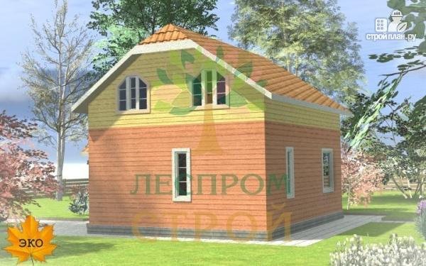Фото 3: проект каркасный дом с просторными комнатами