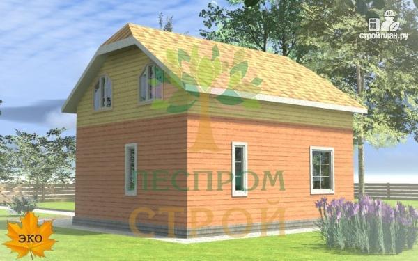 Фото 4: проект каркасный дом с просторными комнатами