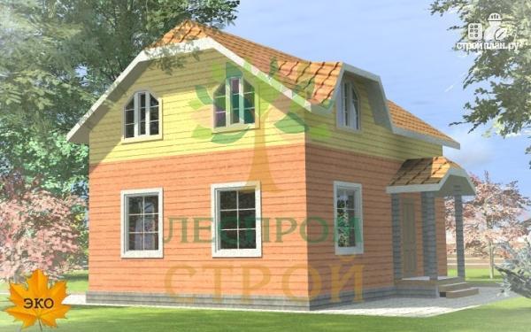 Фото 2: проект каркасный дом с просторными комнатами