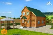Проект каркасный дом с балконом