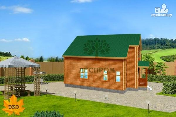 Фото 2: проект каркасный дом с балконом