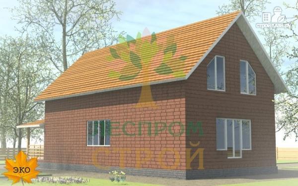 Фото 4: проект каркасный дом с террасой