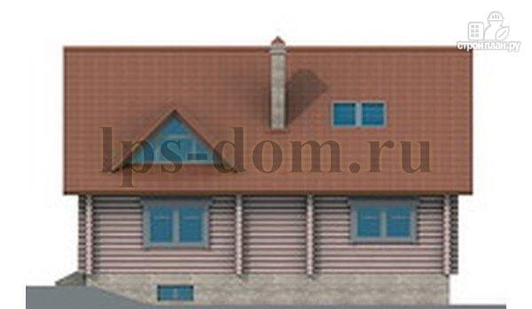 Фото 6: проект дом из бревна с цоколем и мансардой