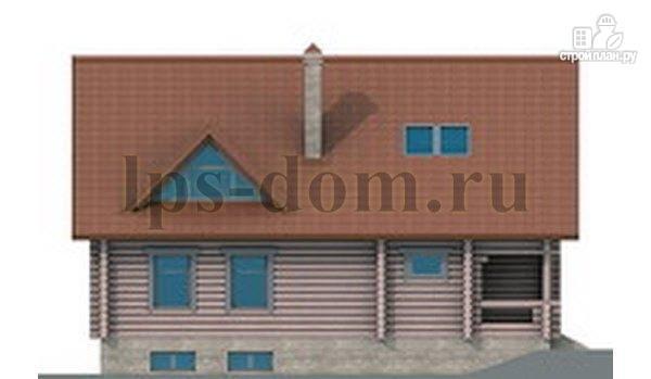 Фото 7: проект дом из бревна с цоколем и мансардой