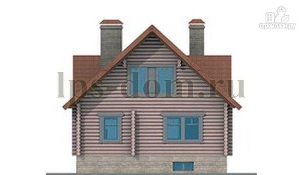Фото 9: проект дом из бревна с цоколем и мансардой