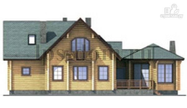 Фото 7: проект дом из бревна с камином на веранде