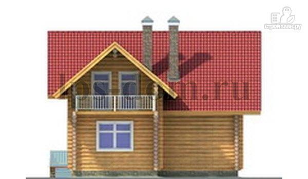 Фото 7: проект дом из бревна с большой и светлой гостиной