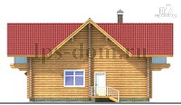 Фото 9: проект дом из бревна с большой и светлой гостиной