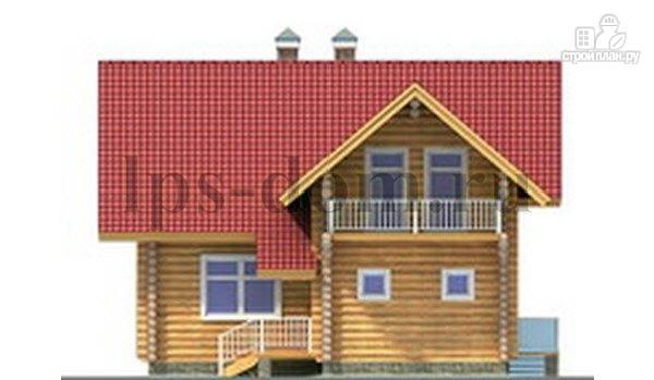 Фото 6: проект дом из бревна с большой и светлой гостиной