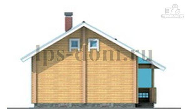 Фото 9: проект бревенчатый дом со вторым светом и антресолью