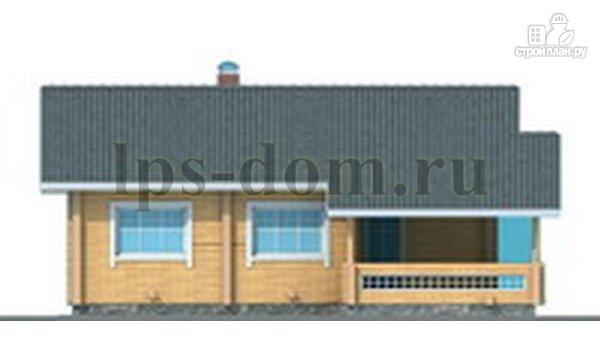 Фото 6: проект бревенчатый дом со вторым светом и антресолью
