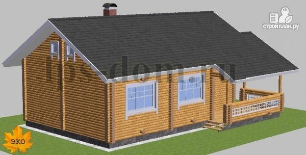 Фото 4: проект бревенчатый дом со вторым светом и антресолью