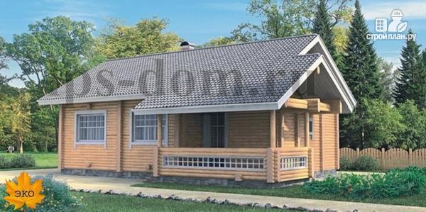 Фото: проект бревенчатый дом со вторым светом и антресолью