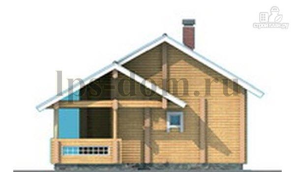 Фото 8: проект бревенчатый дом со вторым светом и антресолью