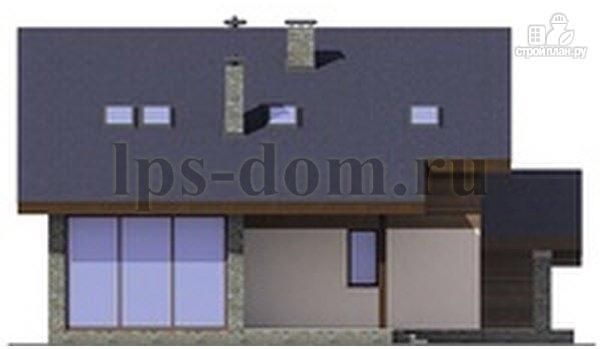 Фото 9: проект деревянный дом с четыремя балконами и навесом для машины