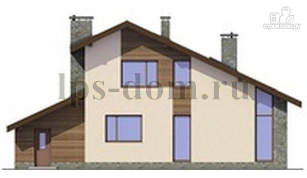 Фото 7: проект деревянный дом с четыремя балконами и навесом для машины