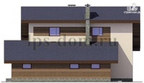 Фото 8: проект деревянный дом с четыремя балконами и навесом для машины