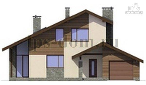 Фото 6: проект деревянный дом с четыремя балконами и навесом для машины
