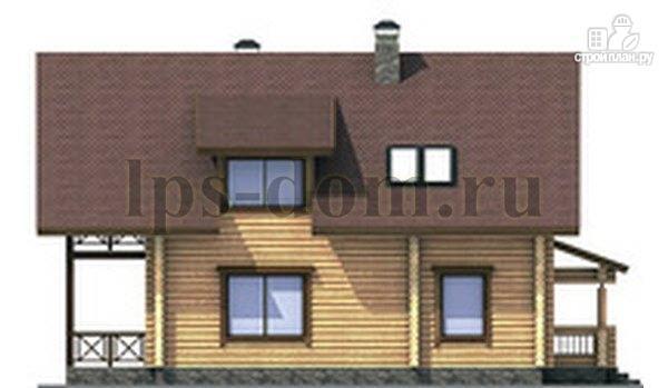 Фото 9: проект дом из бревна с балконом, террасой и гаражом