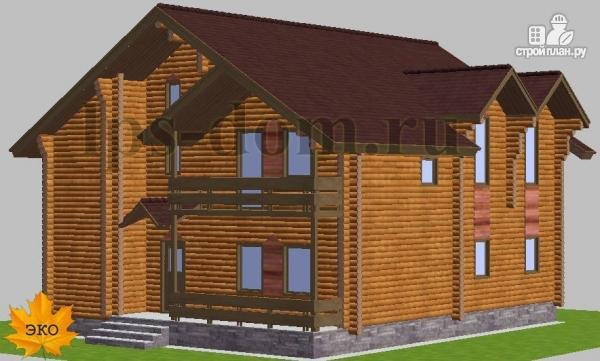 Фото 5: проект дом из бревна с рациональной планировкой