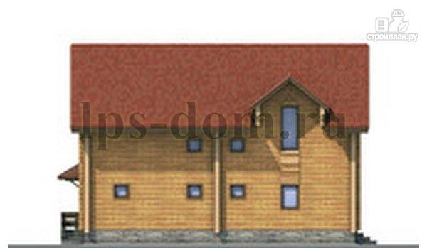 Фото 6: проект дом из бревна с рациональной планировкой