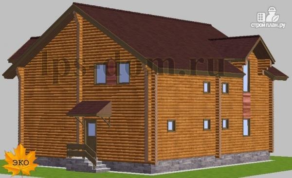 Фото 3: проект дом из бревна с рациональной планировкой