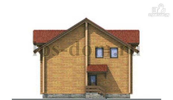 Фото 8: проект дом из бревна с рациональной планировкой