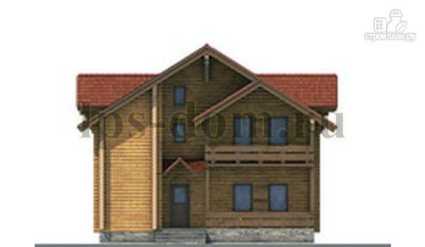 Фото 7: проект дом из бревна с рациональной планировкой