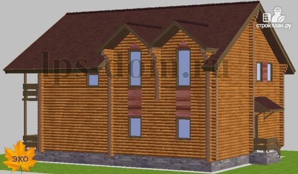 Фото 4: проект дом из бревна с рациональной планировкой