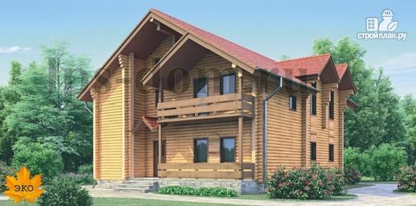 Фото: проект дом из бревна с рациональной планировкой