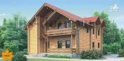 Фото: дом из бревна с рациональной планировкой