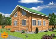 Проект бревенчатый дом 7х10 с уютной гостиной