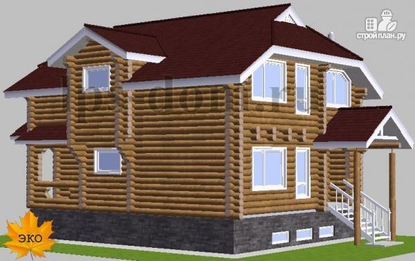Фото 3: проект бревенчатый дом с винным погребом